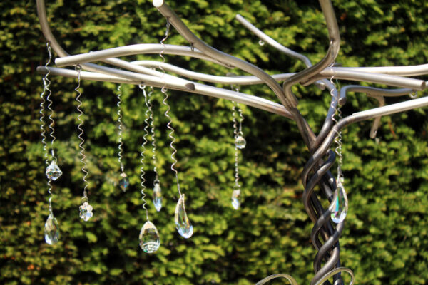 swarovski kristallen in grafmonument voor meisje