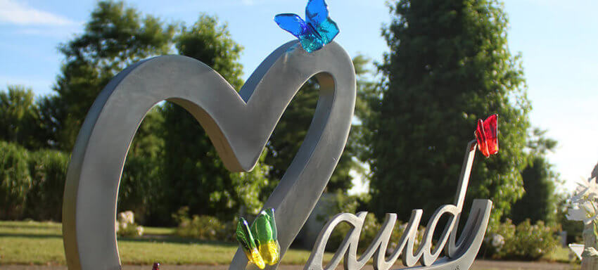 grafsteen vlinder
